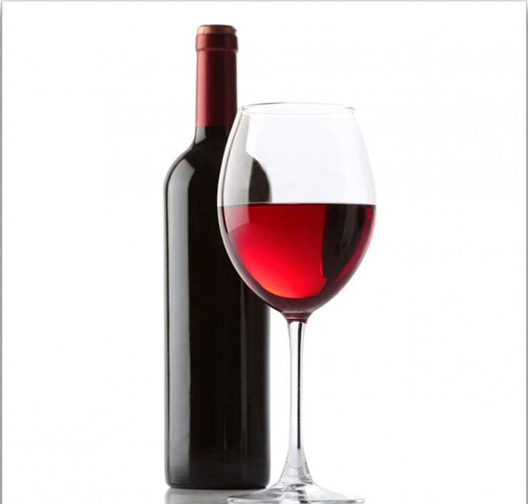 Бутылка вина и бокал картинка